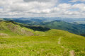 Carpathian mountains next to dragobrat ukraine summer Stock Images