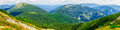 Carpathians mountains hills and summits in summer Royalty Free Stock Photo