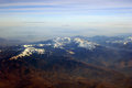 Carpathians mountains seen from above Stock Photos