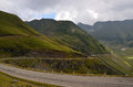 Carpathians road spliter a view of the that crosses the fagaras group of the carpathian mountains in romania from wallachia to Stock Photography