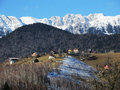 Carpathians village in area from romania Stock Photography