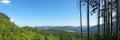 Carpatian landscape panorama with mountains ukraine Royalty Free Stock Image
