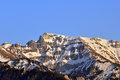 Carpatians bucegi mountains part of the romanian view from bran city end of april still snow Royalty Free Stock Photo