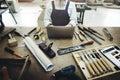 Carpenter Craftmanship Carpentry Handicraft Wooden Workshop Conc Royalty Free Stock Photo