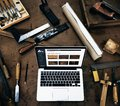 Carpenter Craftmanship Handicraft Wooden Workshop Concept Royalty Free Stock Photo