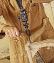 Carpenter with hand drill Royalty Free Stock Photo