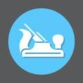 Carpenter hand plane flat icon