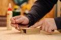 Mano Bonding madera