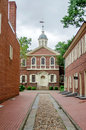 Carpenter s hall philadelphia in pennsylvania usa Royalty Free Stock Image