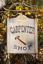 Carpenter Shop Sign Royalty Free Stock Images
