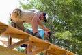 Carpenters Nail Plywood Royalty Free Stock Photo