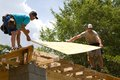 Carpenters With Plywood Royalty Free Stock Photo