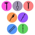 Carpentry icon designs a set of for graphic element use Royalty Free Stock Photo