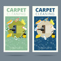 Carpet cleaning service vector illustration. Business card conce