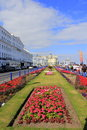 Carpet gardens eastnourne england the famous are the centrepiece of eastbourne s promenade united kingdom located by the pier Stock Image