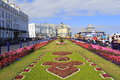 Carpet gardens eastnourne england the famous are the centrepiece of eastbourne s promenade united kingdom located by the pier Royalty Free Stock Photography