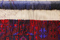Carpet loom closeup with finished work photo Stock Image