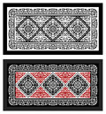 Carpet nationalities Ulchi black and white and color