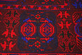 Carpet pattern handmade wool closeup photo Royalty Free Stock Image