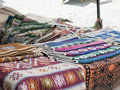Carpet a romanian traditional carpets on a market Royalty Free Stock Image