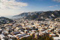 Carrara city marble snowy view panoramic road Royalty Free Stock Images