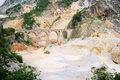 Carrara marble stone pit Royalty Free Stock Images
