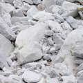 Carrara marble stone pit white in tuscany Royalty Free Stock Photography