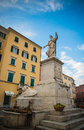 Carrara piazza alberica view in the historic center of tuscany italy Royalty Free Stock Photo