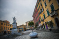 Carrara piazza alberica view in the historic center of tuscany italy Stock Images