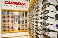 Carrera sunglasses on display Royalty Free Stock Photo