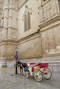 Carriage with horse in Majorca cathedral in Palma Stock Photos