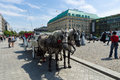 The carriage for tourists walking through the city on pariser platz berlin july july berlin germany is a square in Royalty Free Stock Photography