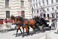Carriage and visitors in Vienna Stock Images