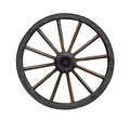 Carriage wheel grunge wagon isolated on white background Stock Photography
