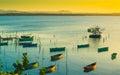 Carribean sunset Royalty Free Stock Photo