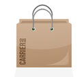 Carrier shopping bag illustration design over a white background Royalty Free Stock Photography