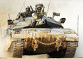 Carro armato israeliano dell idf merkava Immagine Stock
