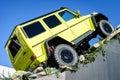 Carro g x da mostra de mercedes benz tv expecting the new exposição automóvel genebra Fotografia de Stock Royalty Free