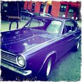 Carro roxo do rodeio Fotografia de Stock Royalty Free