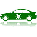 Carro verde Fotografia de Stock Royalty Free