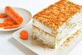 Carrot cake dessert Royalty Free Stock Photo