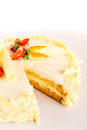 Carrot cake light healthy option marzipan Royalty Free Stock Image