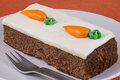 Carrot cake a slice of sweet for desert Royalty Free Stock Photo