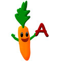 Carrot cartoon Royalty Free Stock Photography