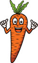Coloring Smiling Carrot Cartoon Character