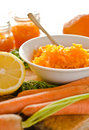 Carrot citrus jam Stock Photography