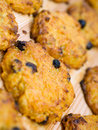 Carrot cookie with raisins Royalty Free Stock Photo