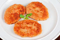 Carrot cutlets with apples dish of Royalty Free Stock Image