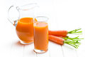 Carrot juice in glass Stock Photo