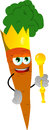 Carrot king vector style illustrated vector format is available Stock Photography